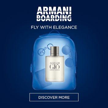 Armani Boarding - Fly With Elegance